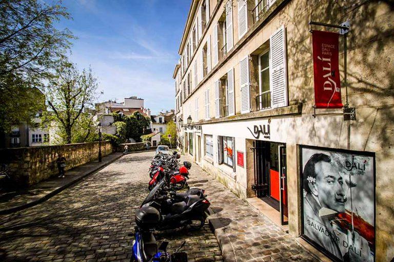 Espace dali proche de la place du calvaire sur la Butte Montmartre