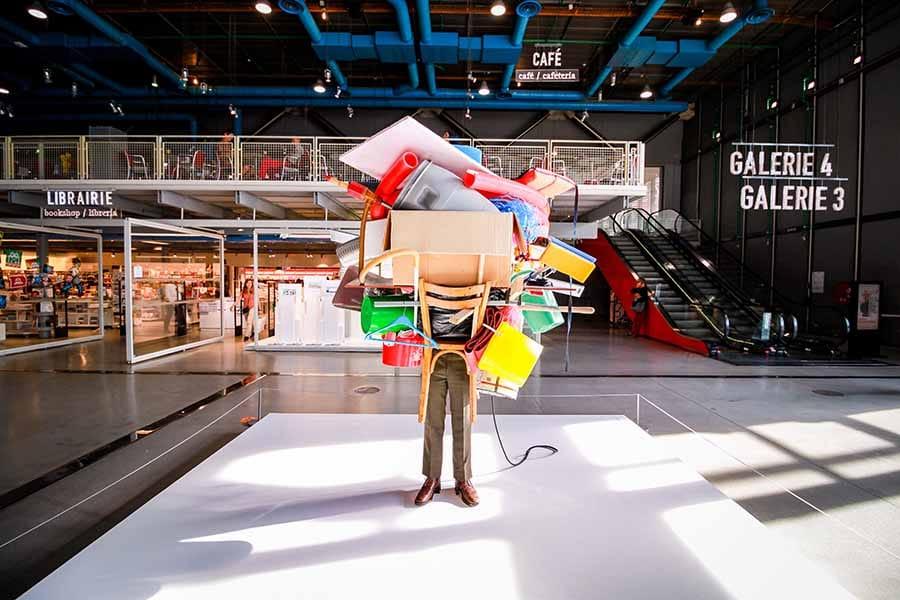 Oeuvre d'art centre pompidou