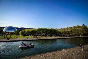 parc de la villette canal geode