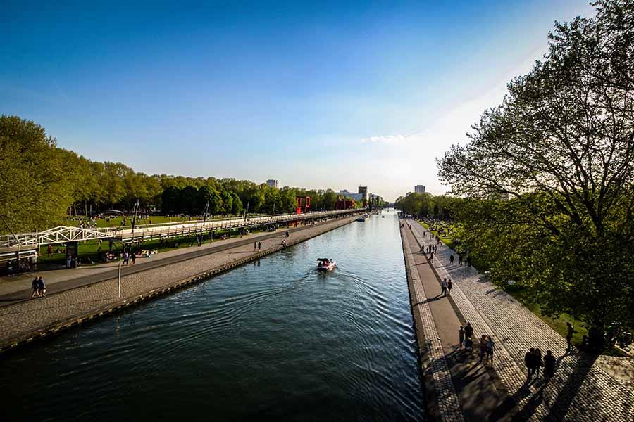parc de la villette canal
