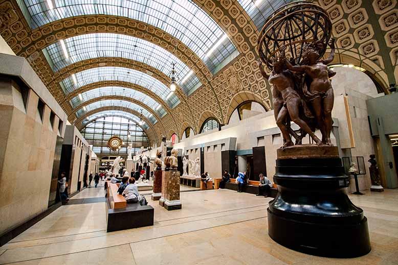 gallerie des statues musée d'orsay statue des quatre temps