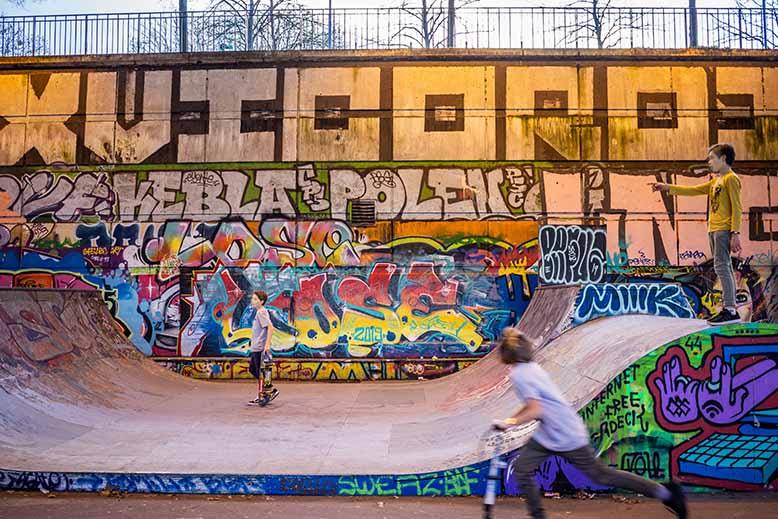 Le skatepark du parc de bercy va plaire à tous les enfants passionés