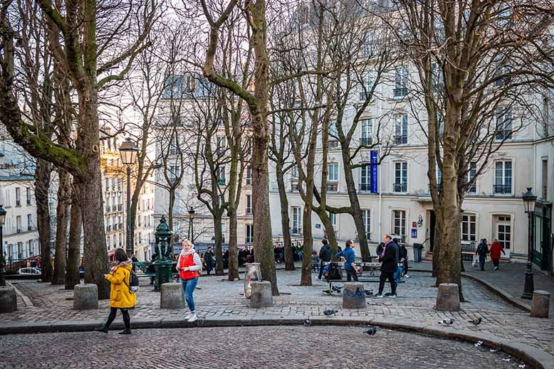 Butte Montmartre place Emile Goudeau