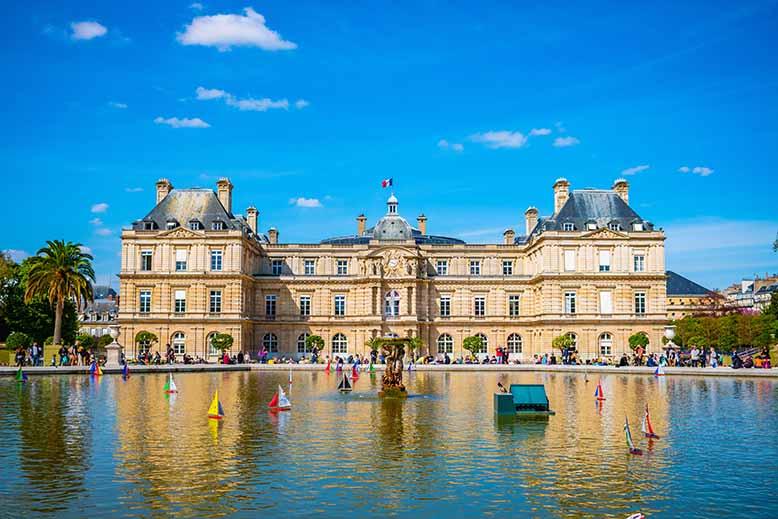 Palais du luxembourg jardin du luxembourg quartier latin
