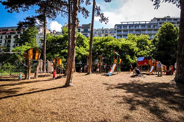 Parc Montsouris espace de jeux