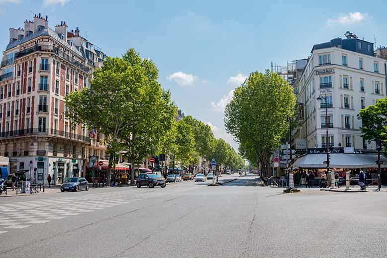 Montparnasse carrefour boulevard du Montparnasse et boulevard raspail