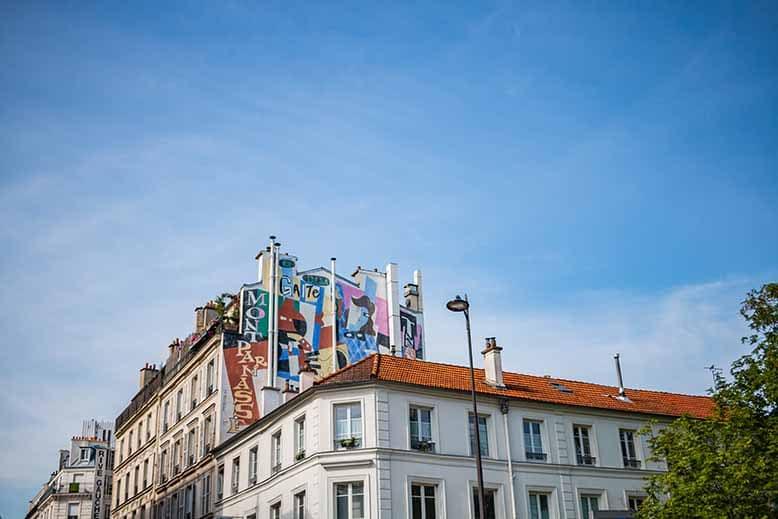 Montparnasse tag graf peinture murale Gaité souvenir