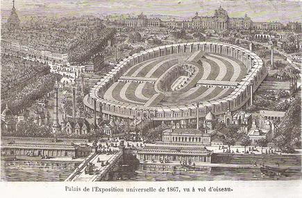 Palais de l'exposition universelle de Paris en 1867