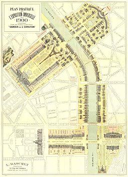Plan pratique de l'exposition universelle de Paris en 1900